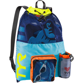 TYR Big Mesh Mummy Backpack blue/yellow